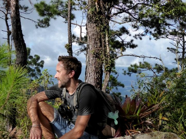 Hehe eindelijk een plekje zonder muggen. Parque Nacional Montaña de Celaque