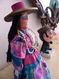 De miniatuur uitvoering van La Gigaton en El Enano Cabezon. León
