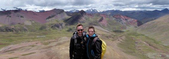 Hep'ie us op de Rainbow Mountain.