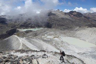 Op weg naar high camp. Huayna Potosí