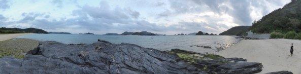 Één van de vele mooi stranden van Zamami.