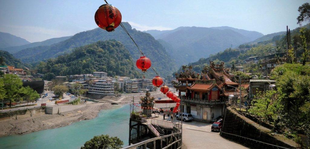 Leuk tempeltje in Wulai.