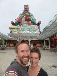 Hep'ie us bij de grote pop. Pu Tian temple, Hsinchu