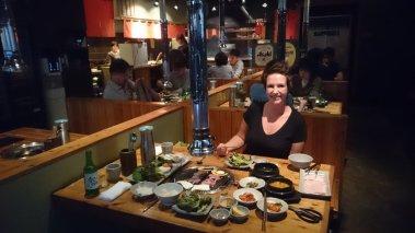 Weer of geen weer altijd Korean BBQ weer!!!!!!! Haeundae, Korea