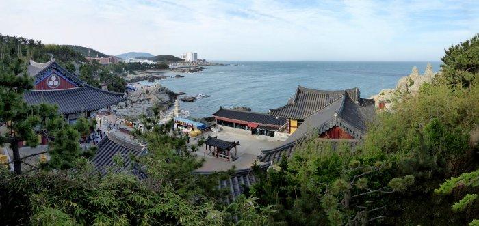 Viewpoint bij de Haedong Yonggungsa. Haeundae, Korea