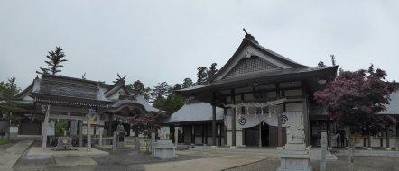 Tempeltje op Mount Ishizuchi. Japan