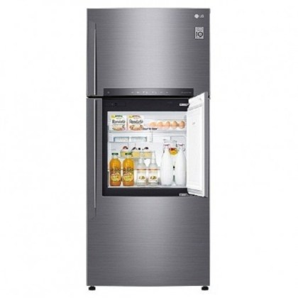 Réfrigérateur LG 2 portes Door-in-Door® | Compresseur linéaire Inverter | 469L | Gris | NatureFRESH™ | DoorCooling+™ | LINEARCooling™ | Hygiene Fresh+ | SmartThinQ™