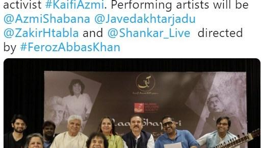 Kaifi Azmi Centenary Celebrations 2019