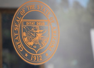 The state seal for Arizona