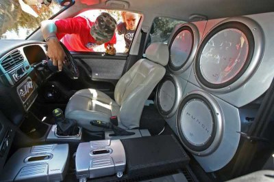 Car Audio System - Rear Seat-Mounted Speakers