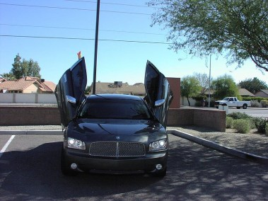 Customized Dodge Charger with 4 Wing Doors