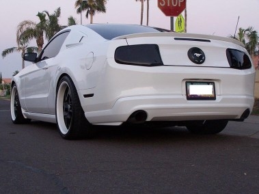 Customized White Ford Mustang