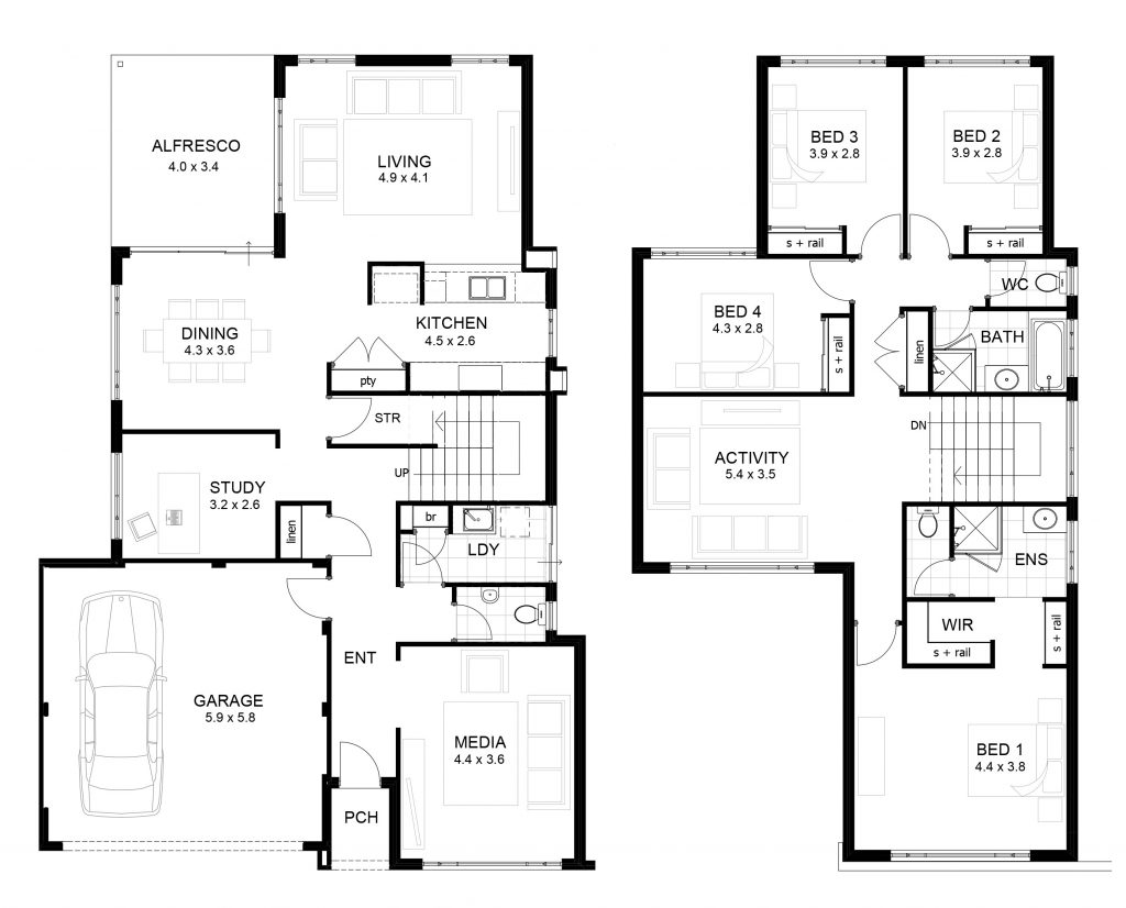 2 Storey Modern House Designs And Floor Plans Awesome 100