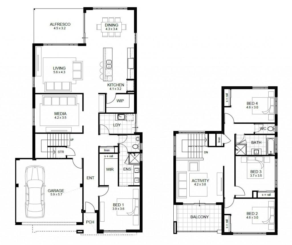 Luxury 4 Bedroom Two Storey House Plans