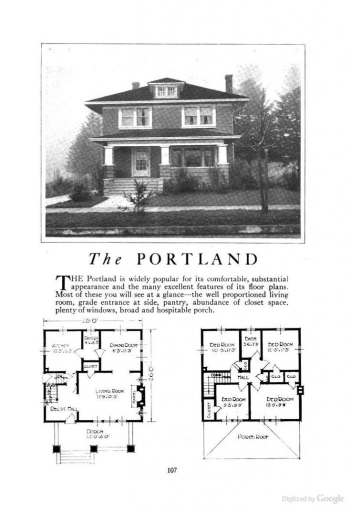 New Craftsman Foursquare House Plans New Home Plans Design