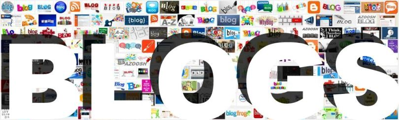 Blogs screenshots images graphic logos 2014 Azoosh header cover banner white type word letters arial font