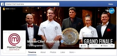 MasterChef Facebook verified page winner Brent Owens trophy silver plate TV cooking show finale 2014 banner cover
