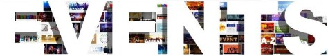 Events images pics photos cover banner header white type Arial font letters Azoosh 2014