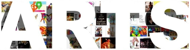 Arts images cover artworks banner header pics photos white type word heading letters arial font type