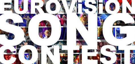 Eurovision best photos colourful winners collage pics image banner header bold white type