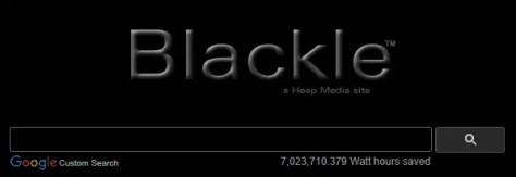 Blackle search engine 2018 website screenshot logo Heap Media