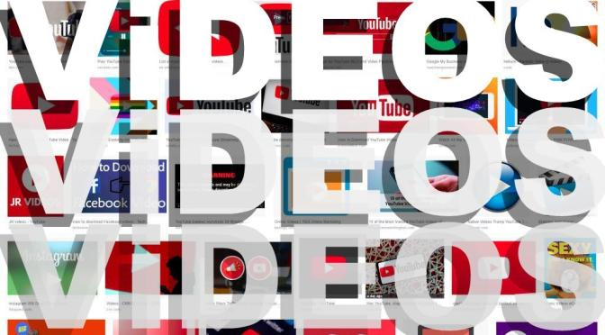 Videos images icons pics graphics white type featured header banner