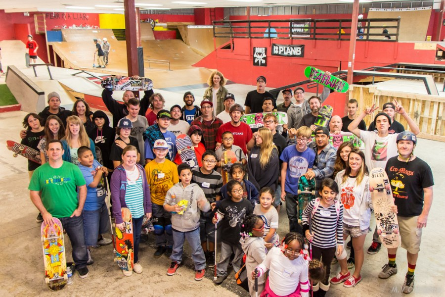 Tommy Carroll Skateboard Clinic with Foundation for Blind Children 12-28-2013