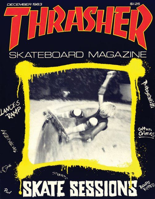 Shelton on the Cover of Thrasher Magazine December 1983