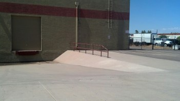 The even skate stopped the shitty handrail they put up...fuckers