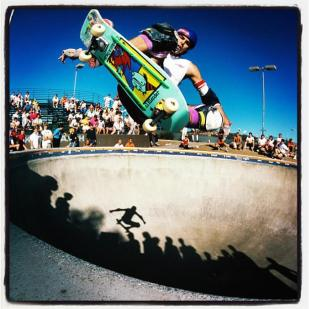 Neil Blender Frontside Ollie at Del Mar 1985 Photo: Grant Brittain
