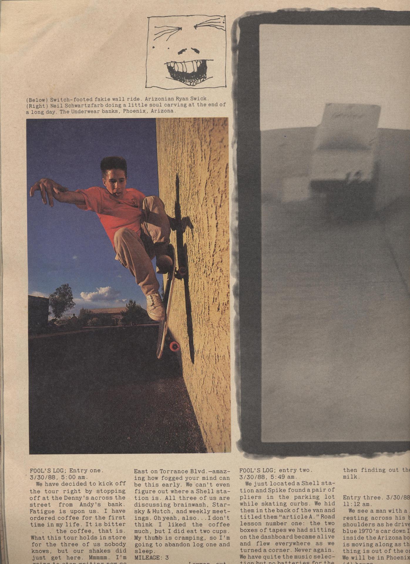 Switch-footed wall ride Ryan Swick Photo: Spike Jonze