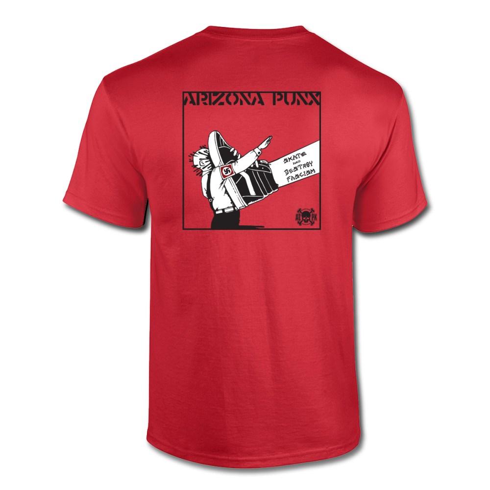 AZPX Skate and Destroy Fascism Red T-shirt