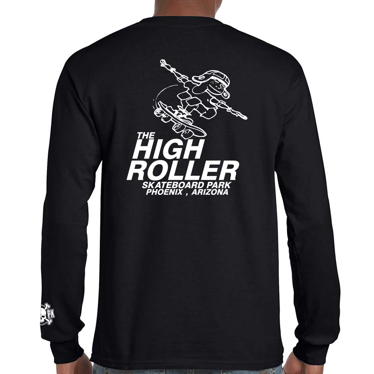 The High Roller Skateboard Park Black Long Sleeve T-shirt