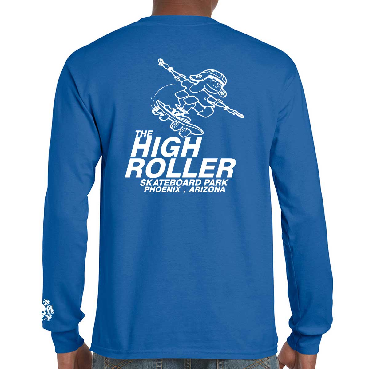 The High Roller Skateboard Park Blue Long Sleeve T-shirt