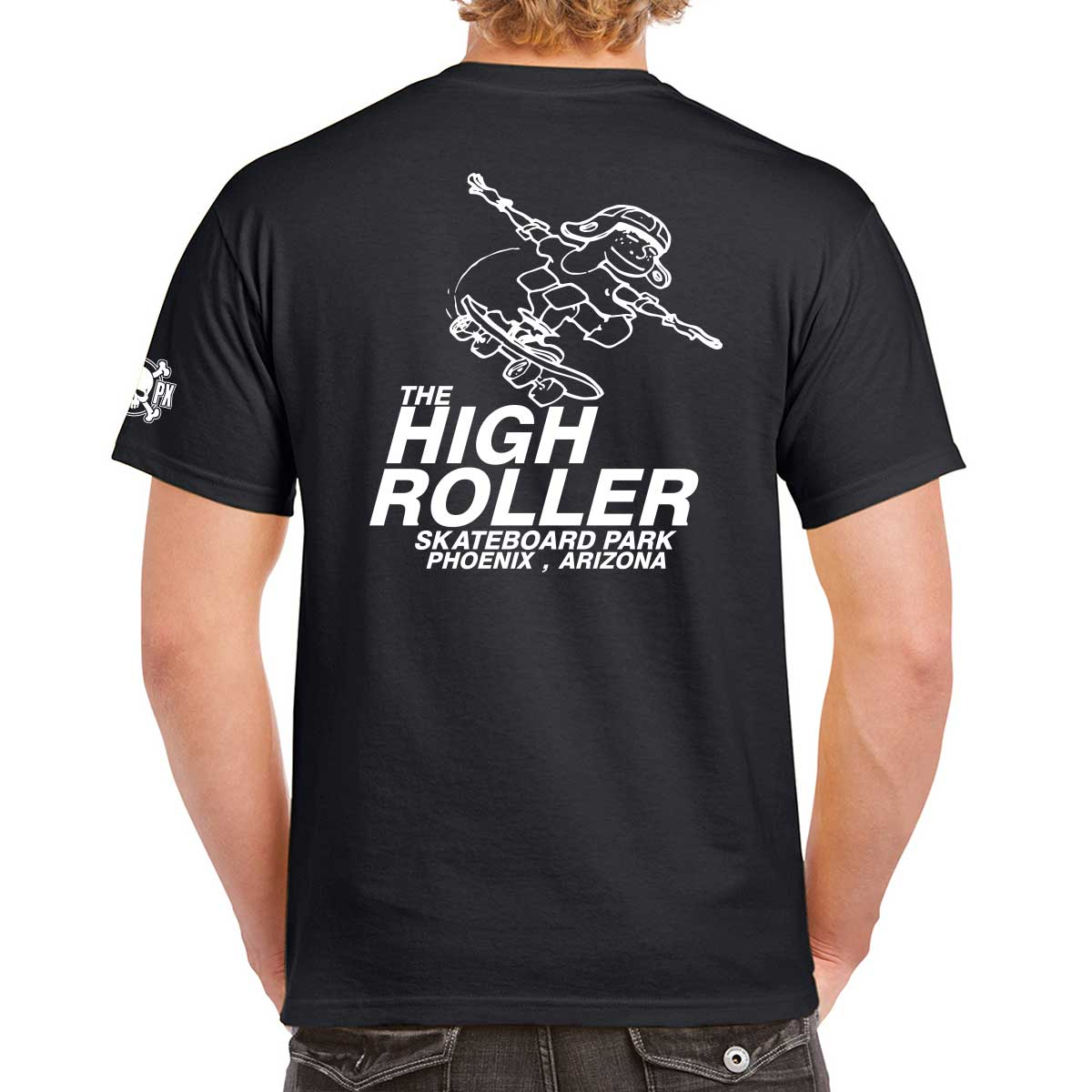 The High Roller Skateboard Park Black T-shirt