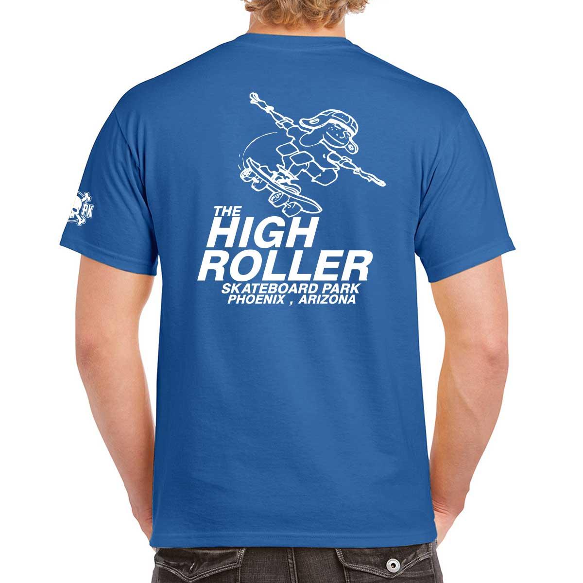 The High Roller Skateboard Park Blue T-shirt