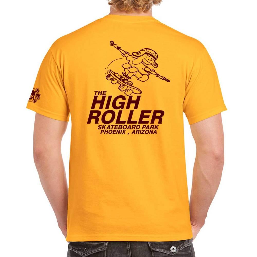 The High Roller Skateboard Park Gold T-shirt