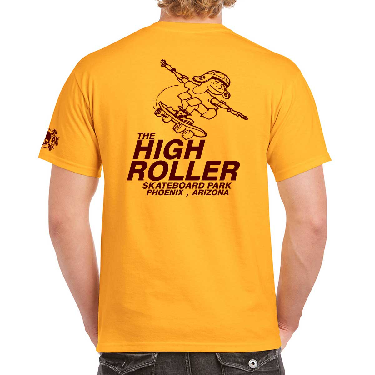 The High Roller Skateboard Park Gold T-shirt