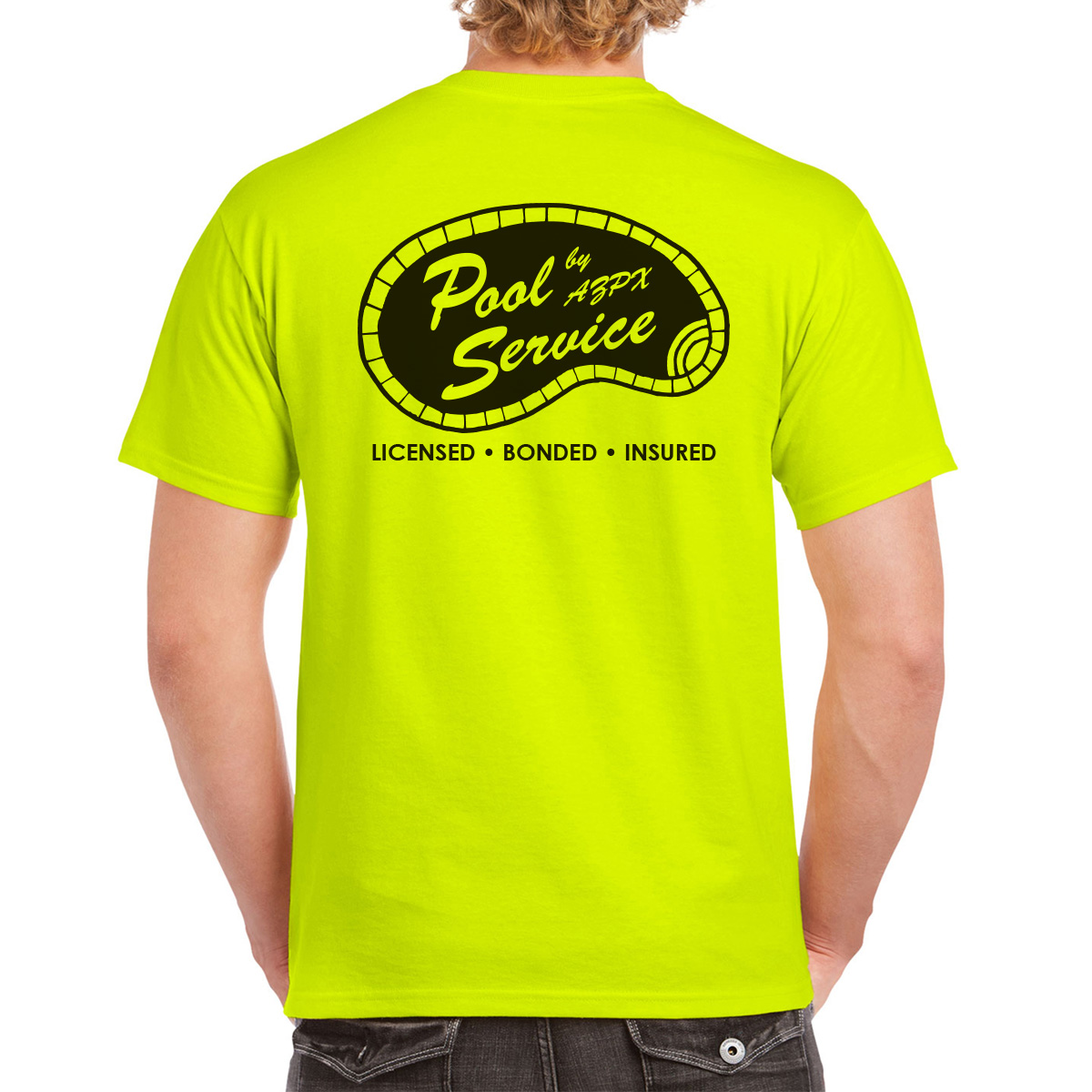 AZPX Safety Green Pool Service T-shirt