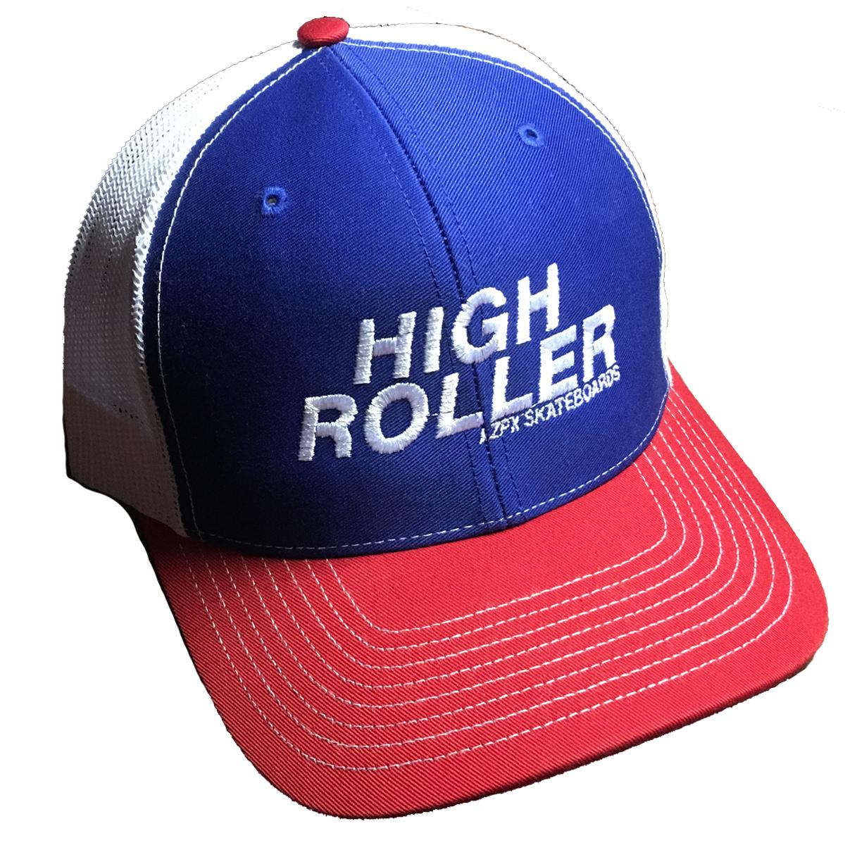 High Roller Trucker Hat – Red, White & Blue