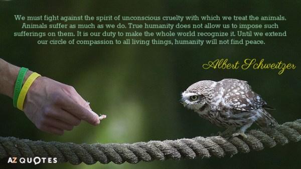 Albert Schweitzer quote: We must fight against the spirit ...