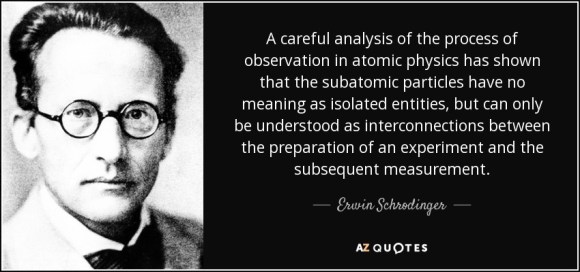 Erwin Schrodinger quote: A careful analysis of the process ...