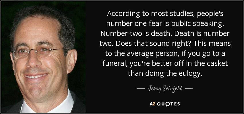 Image result for fear of public speaking quotes