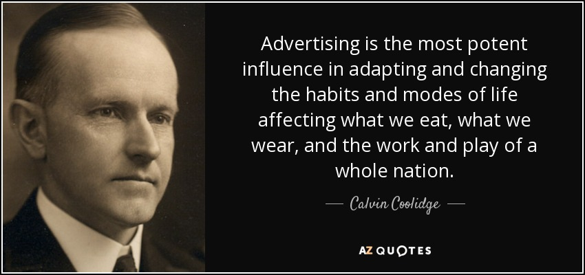 Image result for advertising influence quote