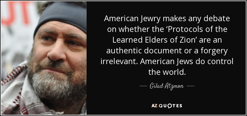 Image result for Gilad atzmon jews