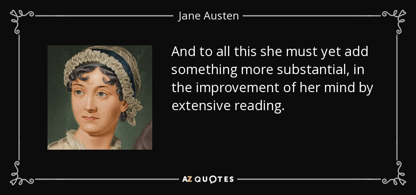 Image result for extensive reading jane austen