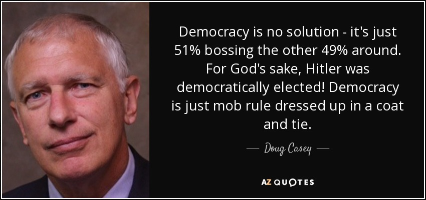 Image result for democracy is mob rule