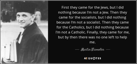 Image result for niemoller quote