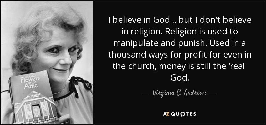 Image result for God is real, but not religion