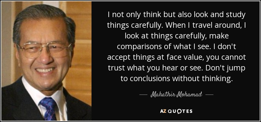 Image result for The Malays are lazy--Mahathir quote